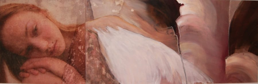 Kunst: Dreaming angel van kunstenaar Toos van Poppel