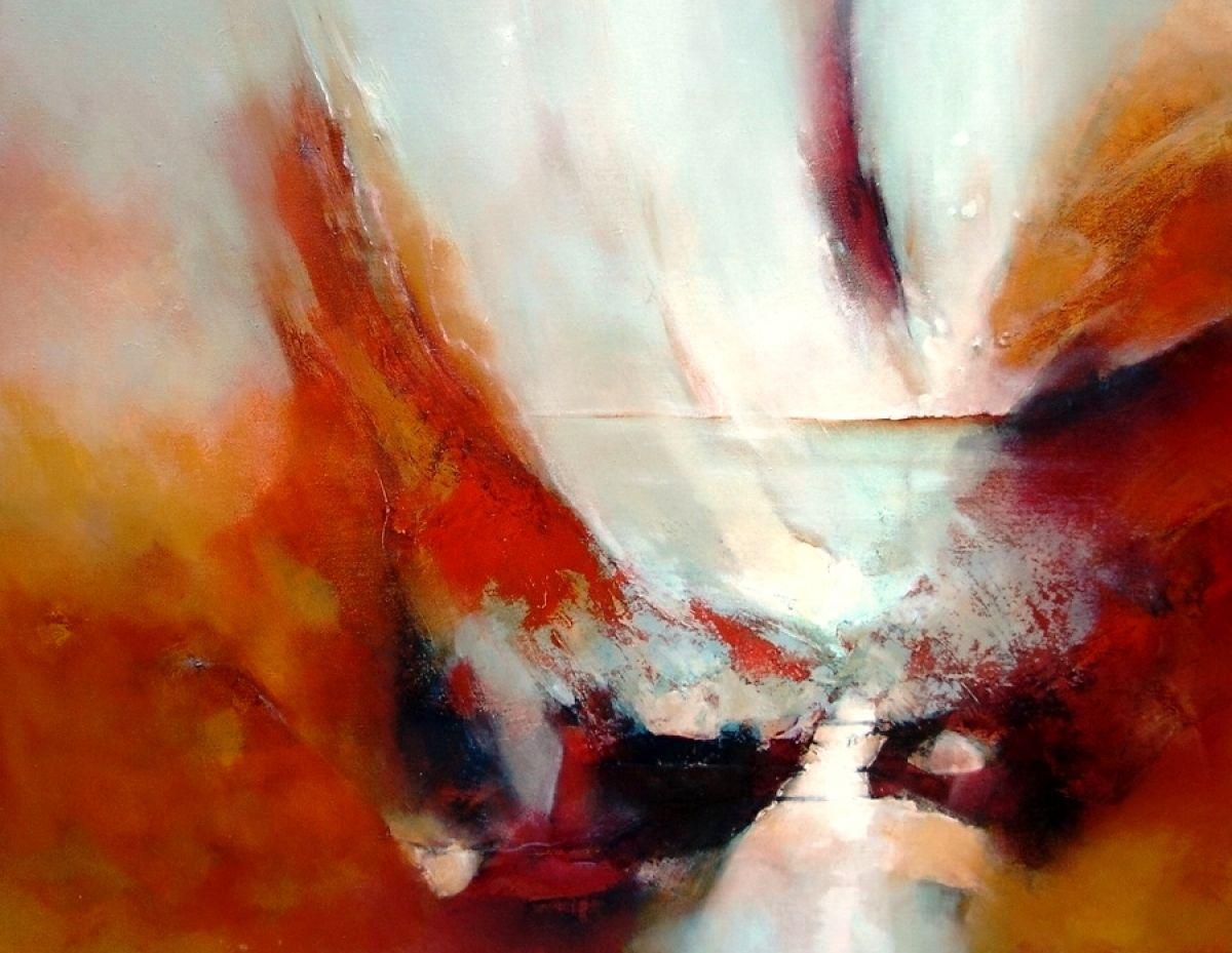 Kunst: Dreamtime Zanskhar van kunstenaar Sietse Goverts