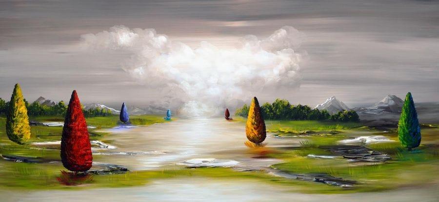Kunst: Dreamy Nature van kunstenaar Gena n Gena