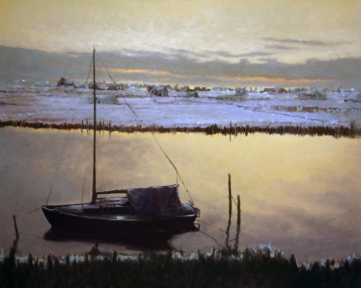 Kunst: dutch landscape van kunstenaar Erik-Jan Vaandering
