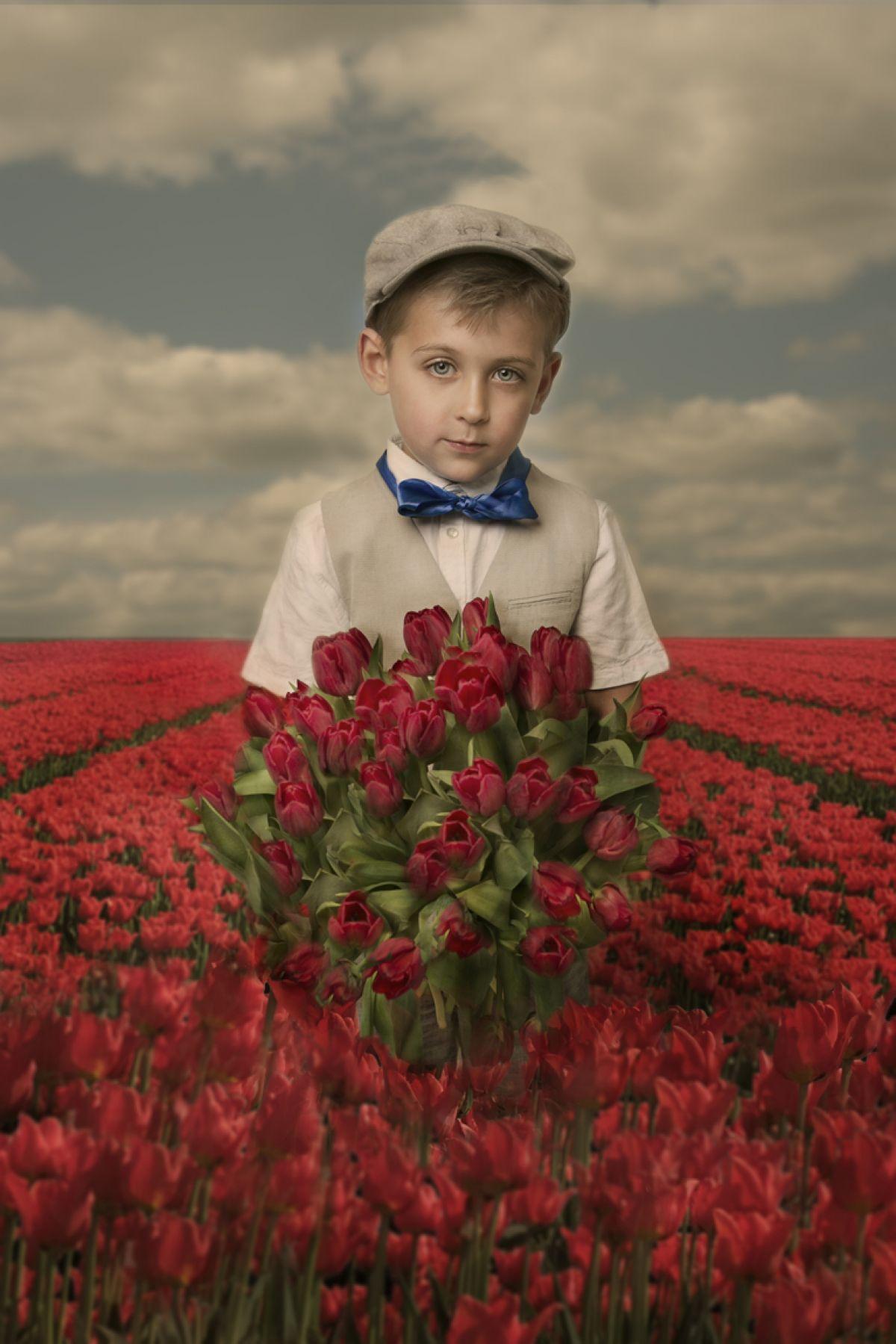 Kunst: Dutch Tulips 2/2 van kunstenaar Kaat Stieber