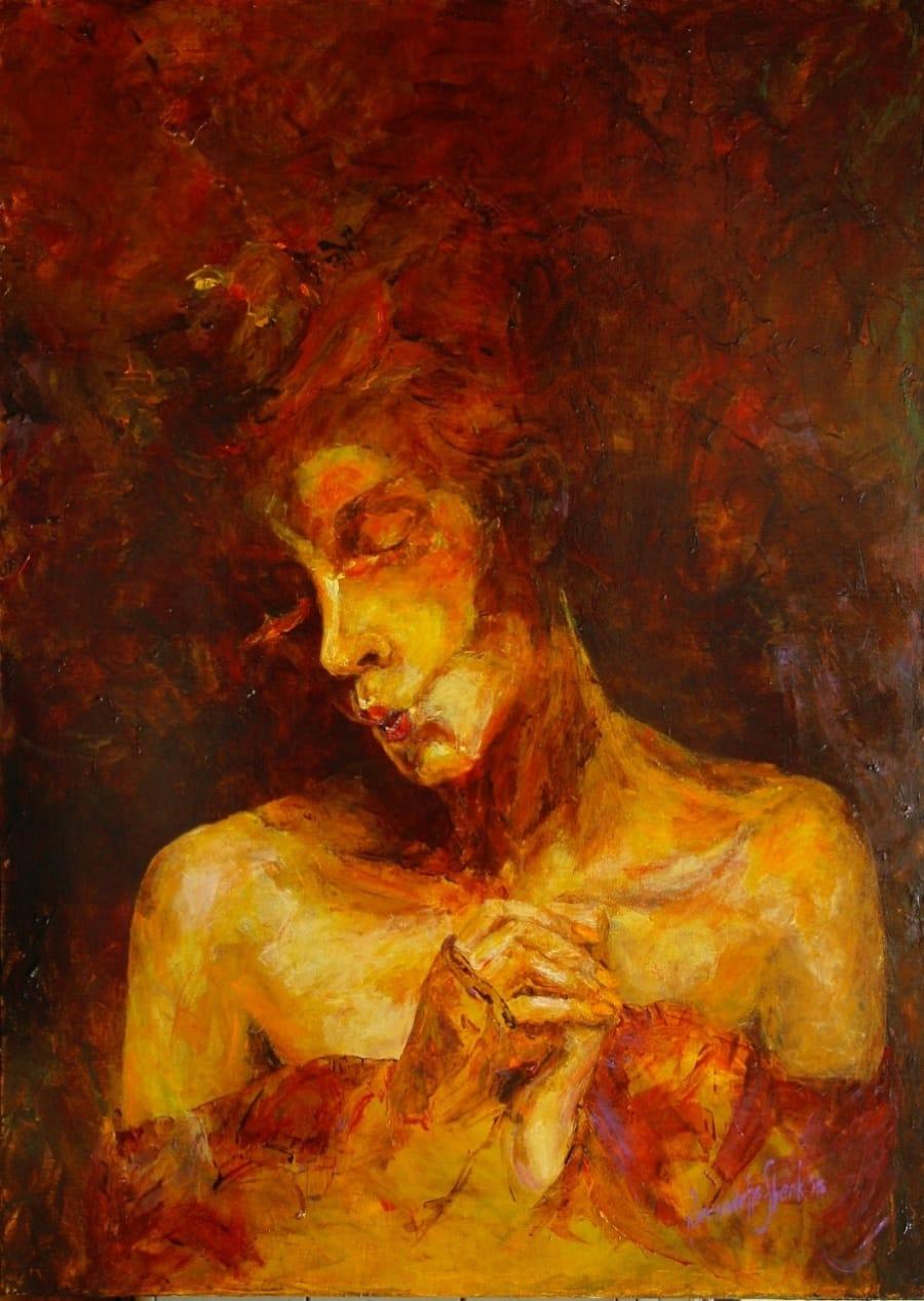 Kunst: Eccentric 1 van kunstenaar Bernadette Sterk