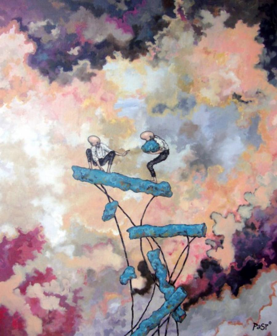 Kunst: Een steentje bijdragen van kunstenaar Paddy Spoelder