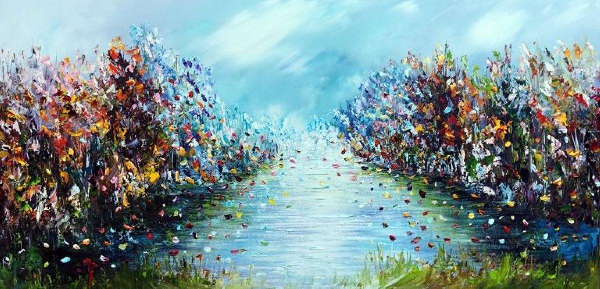 Kunst: Fantasy landscape van kunstenaar Gena n Gena