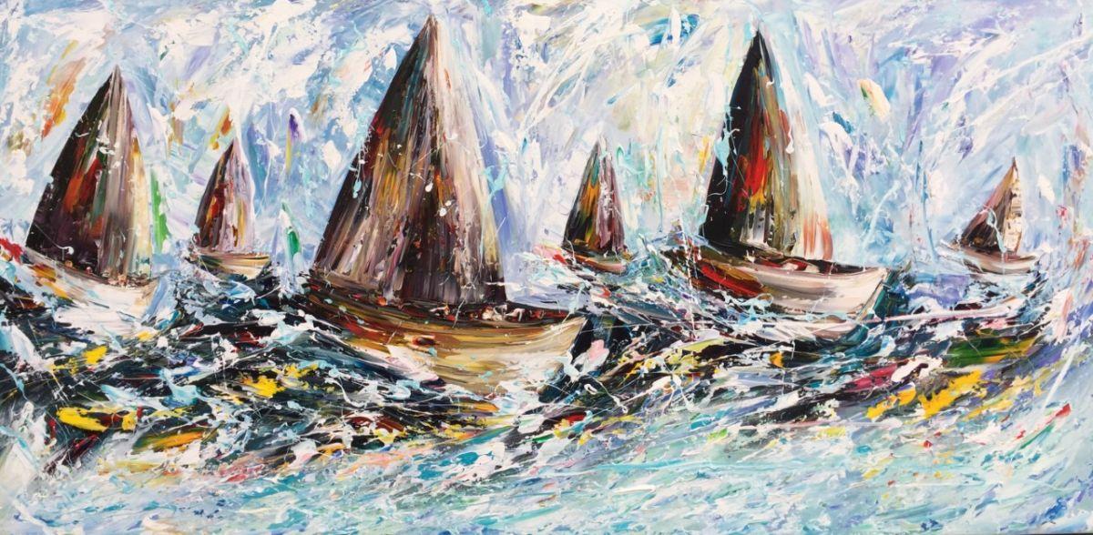 Kunst: Fantasy Sailing van kunstenaar Gena n Gena