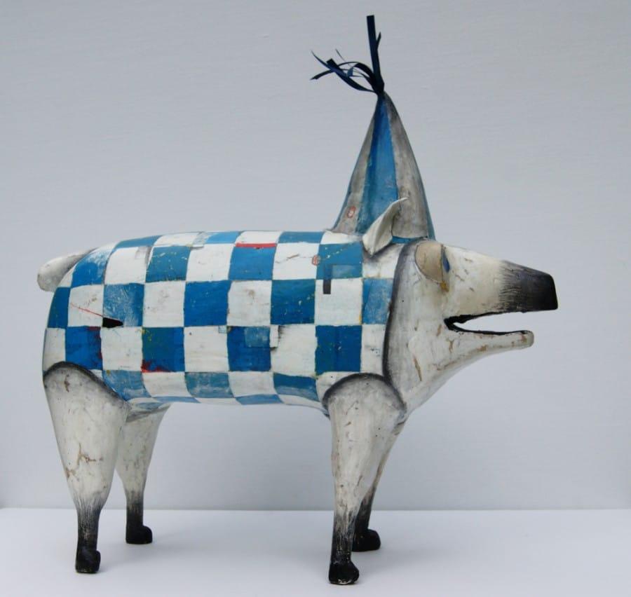 Kunst: Feestvarken II van kunstenaar Aad de Wit