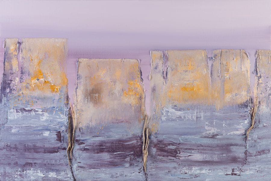 Kunst: Fields of Avalon van kunstenaar Els Vegter