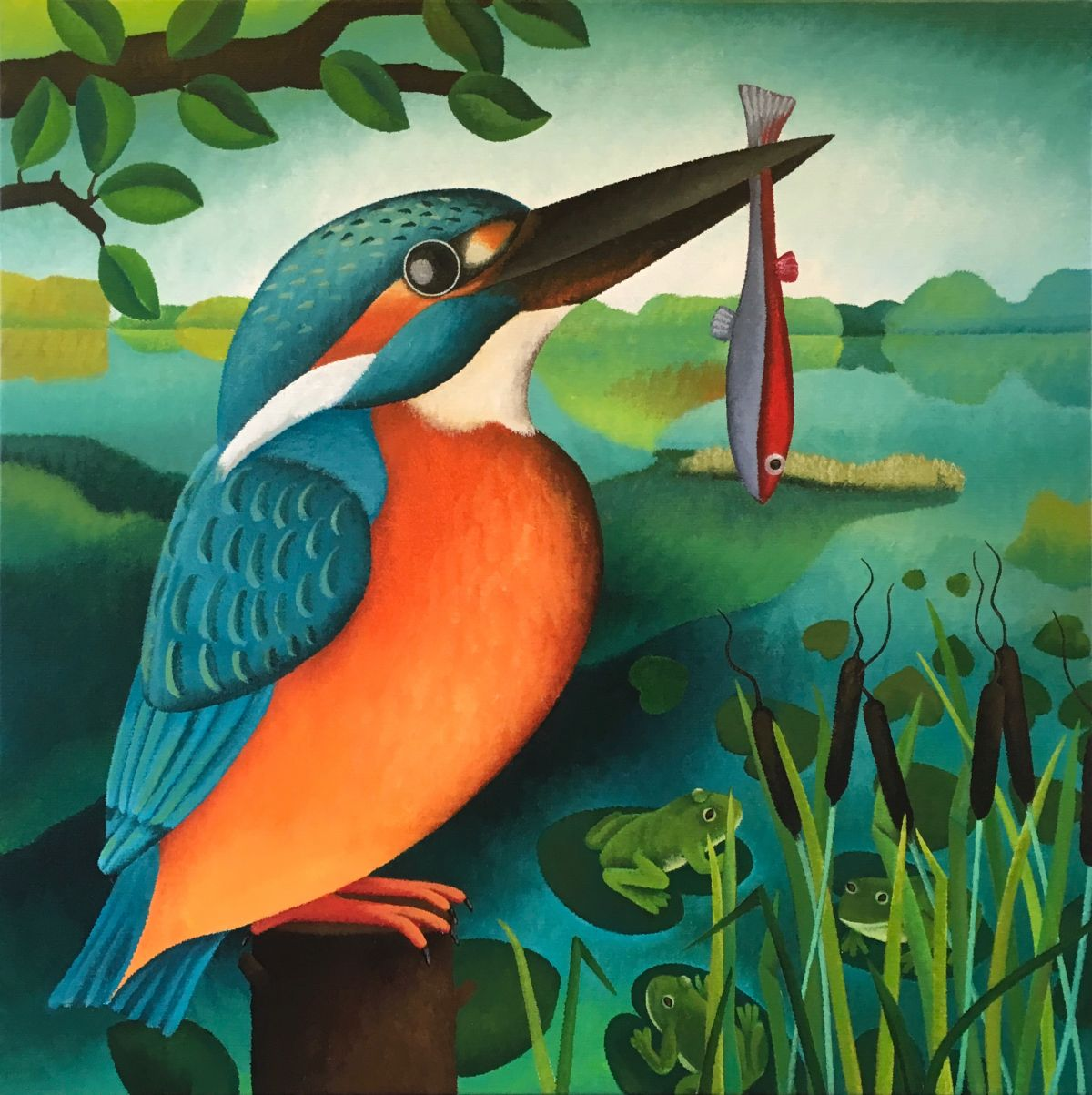 Kunst: Fisherman van kunstenaar Yvonne Zomerdijk