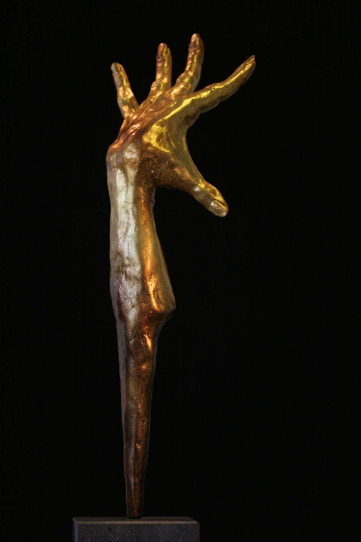 Kunst: FLAMENCO ~ Gold HAND van kunstenaar  Rogier Ruys
