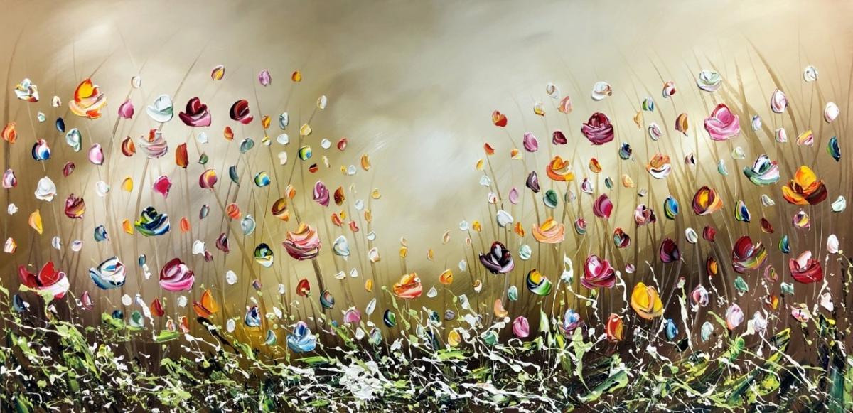 Kunst: Flowers van kunstenaar Gena n Gena