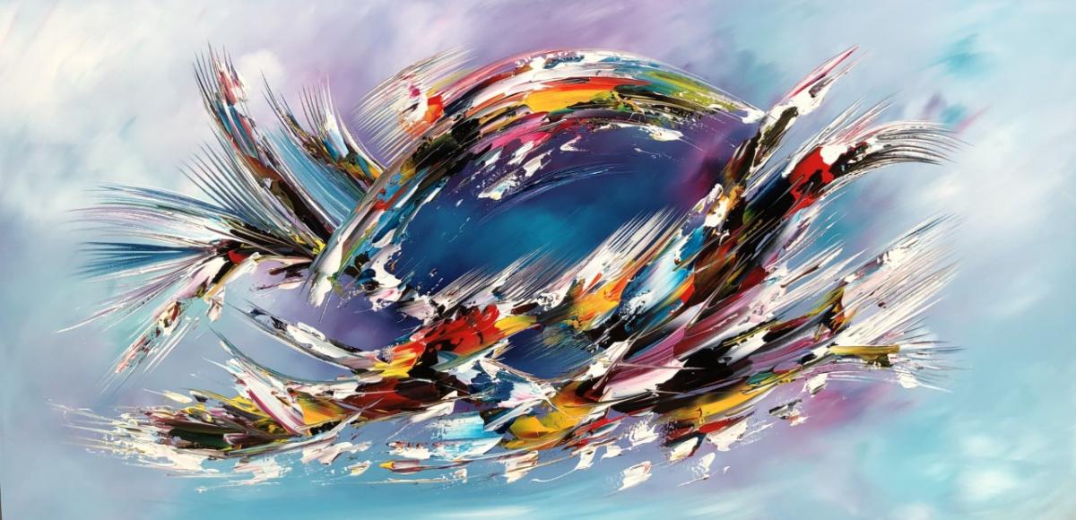 Kunst: Flying van kunstenaar Gena n Gena