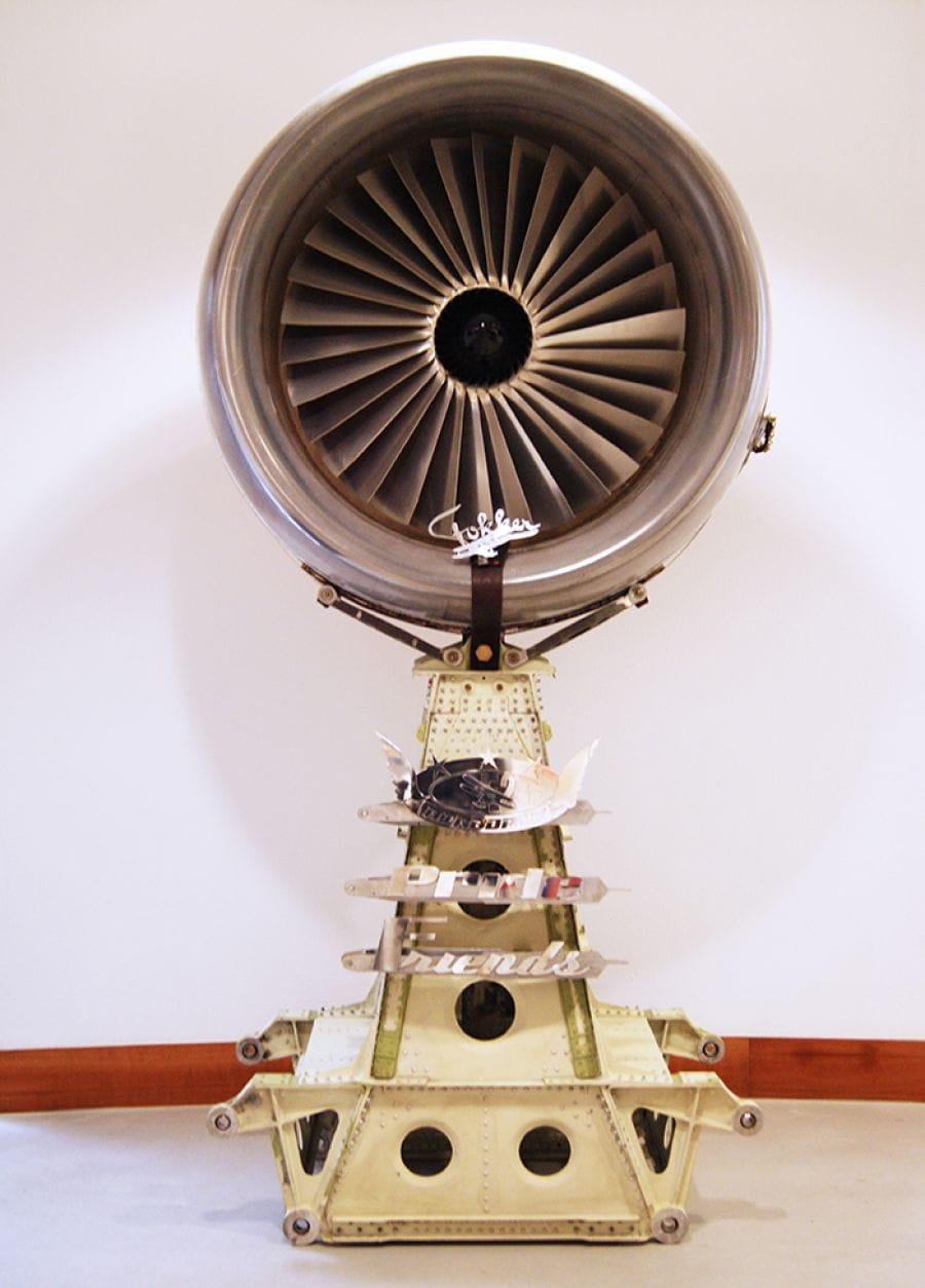 Kunst: Fokker Tribute van kunstenaar Wilco van Leeuwen