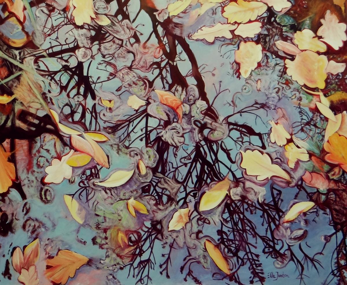 Kunst: Foliage One van kunstenaar Ella Joosten