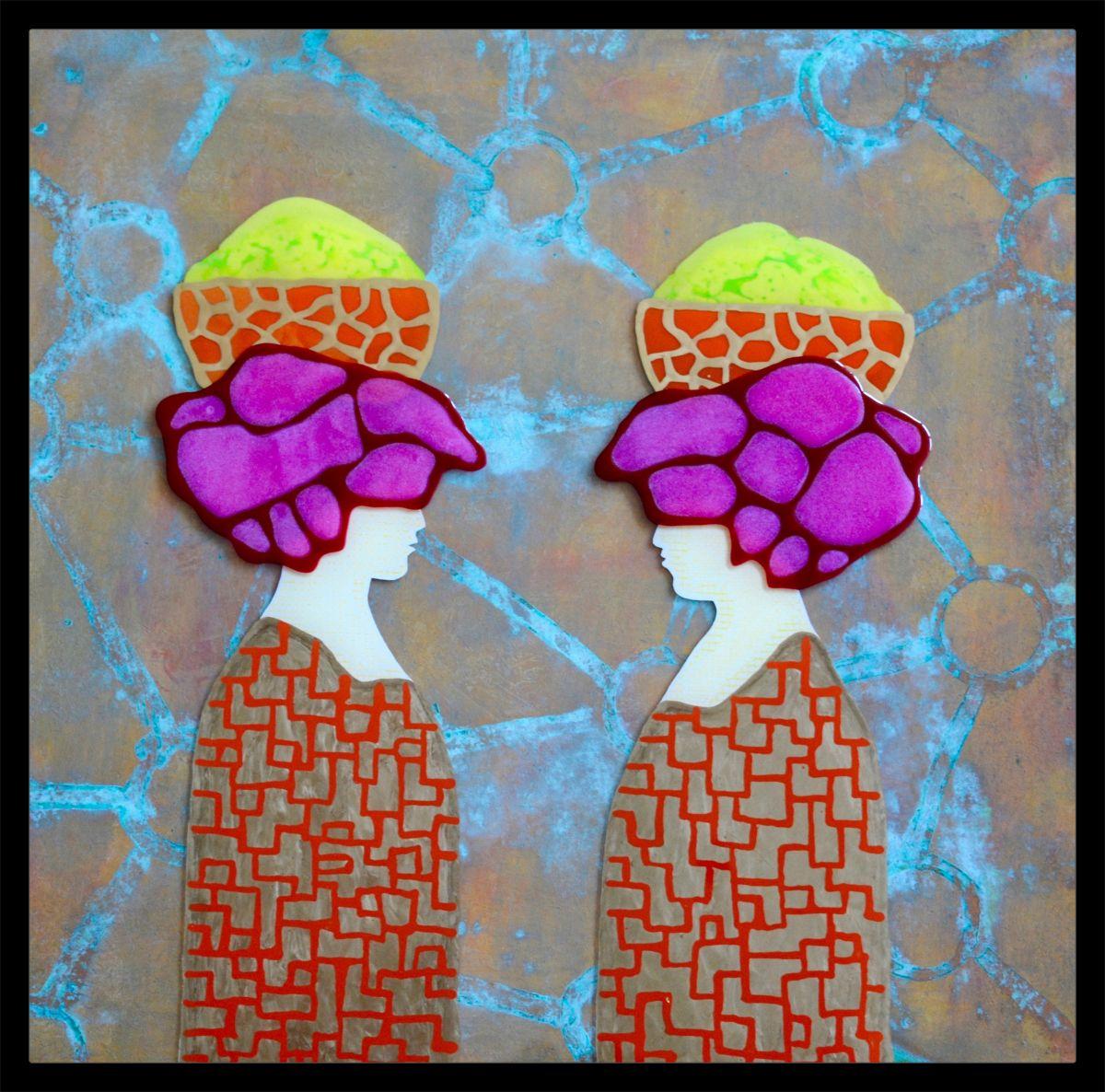 Kunst: Friday Market van kunstenaar  Beddru