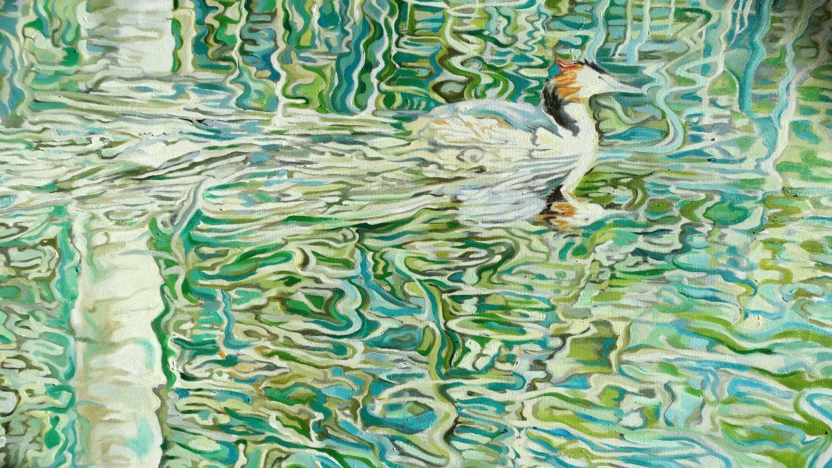 Kunst: Fuut van kunstenaar Sanneke S.I. Griepink
