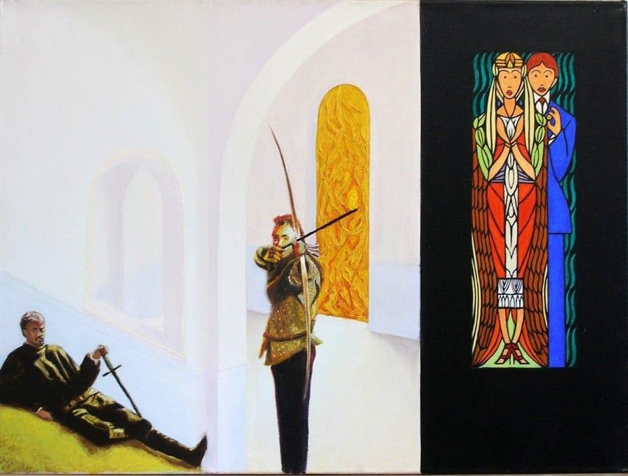 Kunst: gebrandschilderde ramen van kunstenaar Leo Wijnhoven