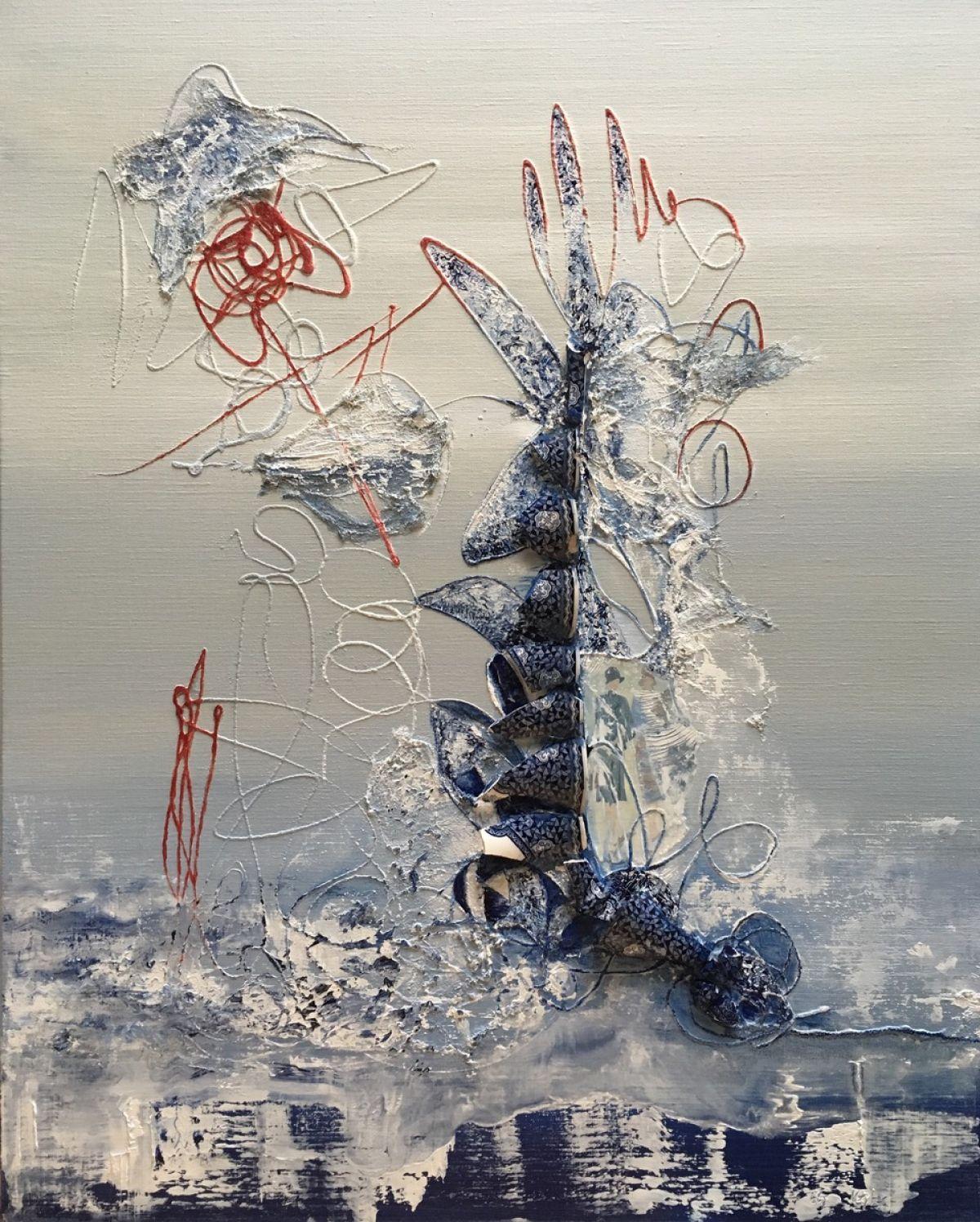 Kunst: Gebroken herinnering II van kunstenaar Els Vegter