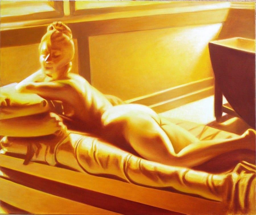 Kunst: geel marmer van kunstenaar Leo Wijnhoven