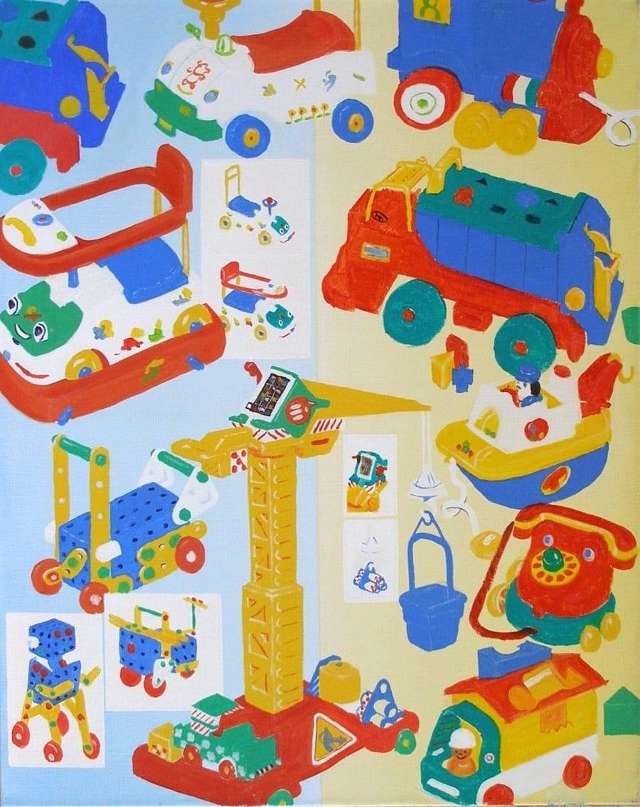Kunst: gekleurde speeltjes van kunstenaar Leo Wijnhoven