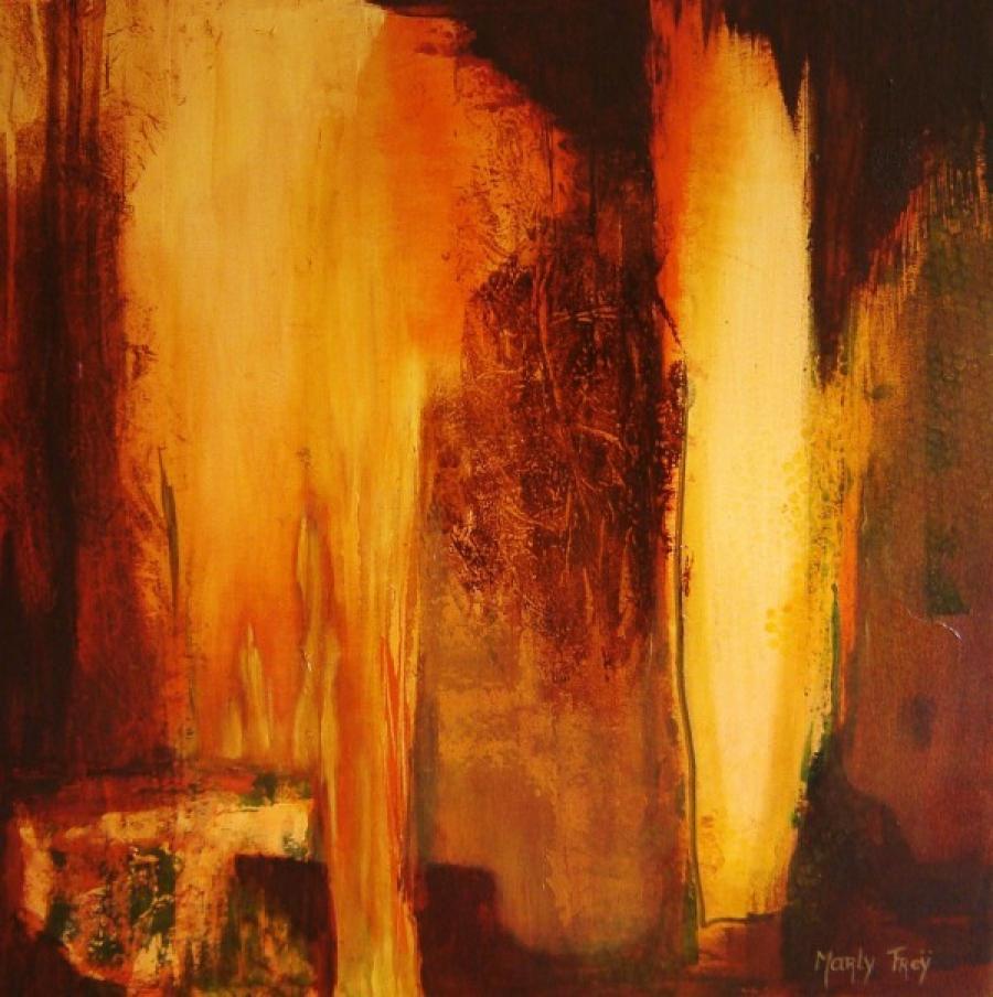 Kunst: Gloeiend 1 van kunstenaar Marly Freij(vergezichten)