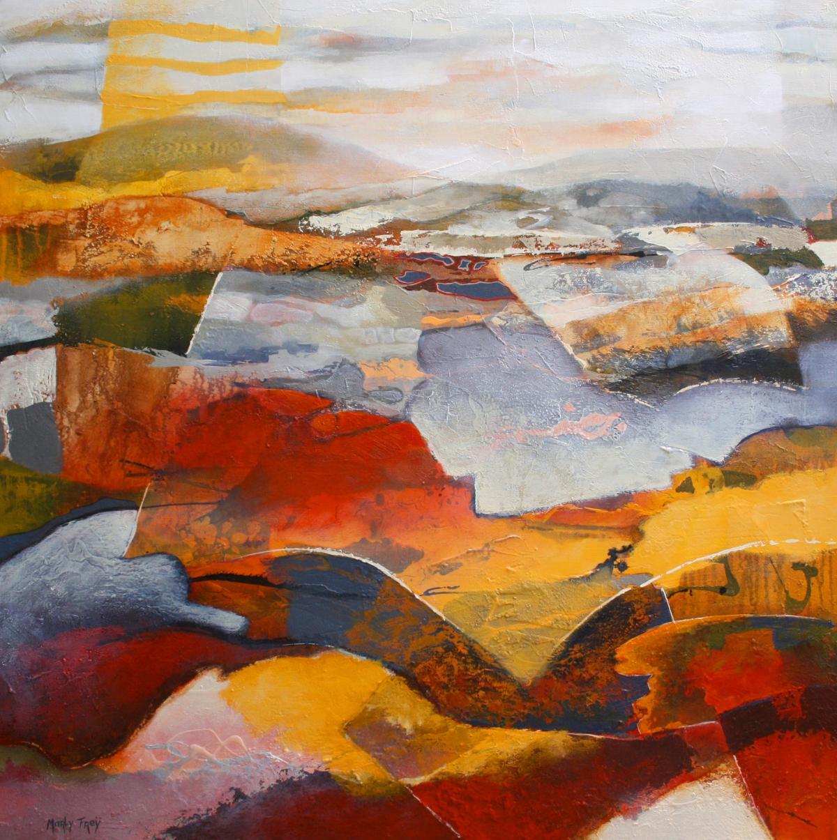Kunst: Glooiend 2 van kunstenaar Marly Freij(vergezichten)