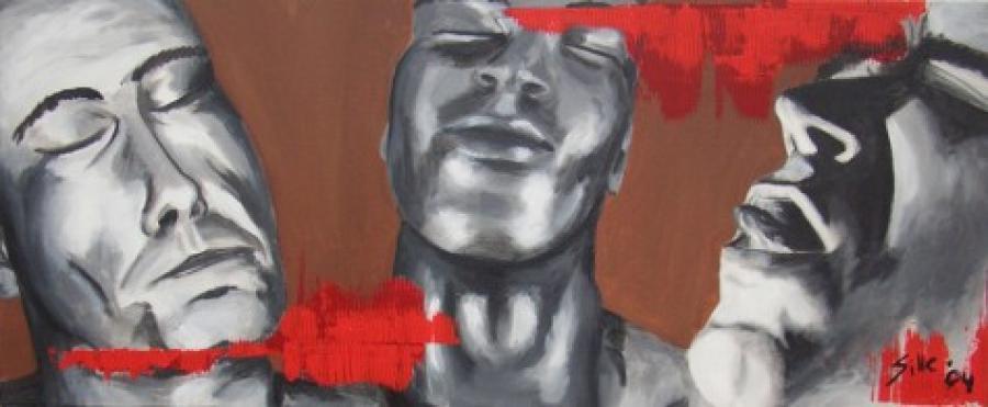 Kunst: Grey grimace van kunstenaar Tamara Sille