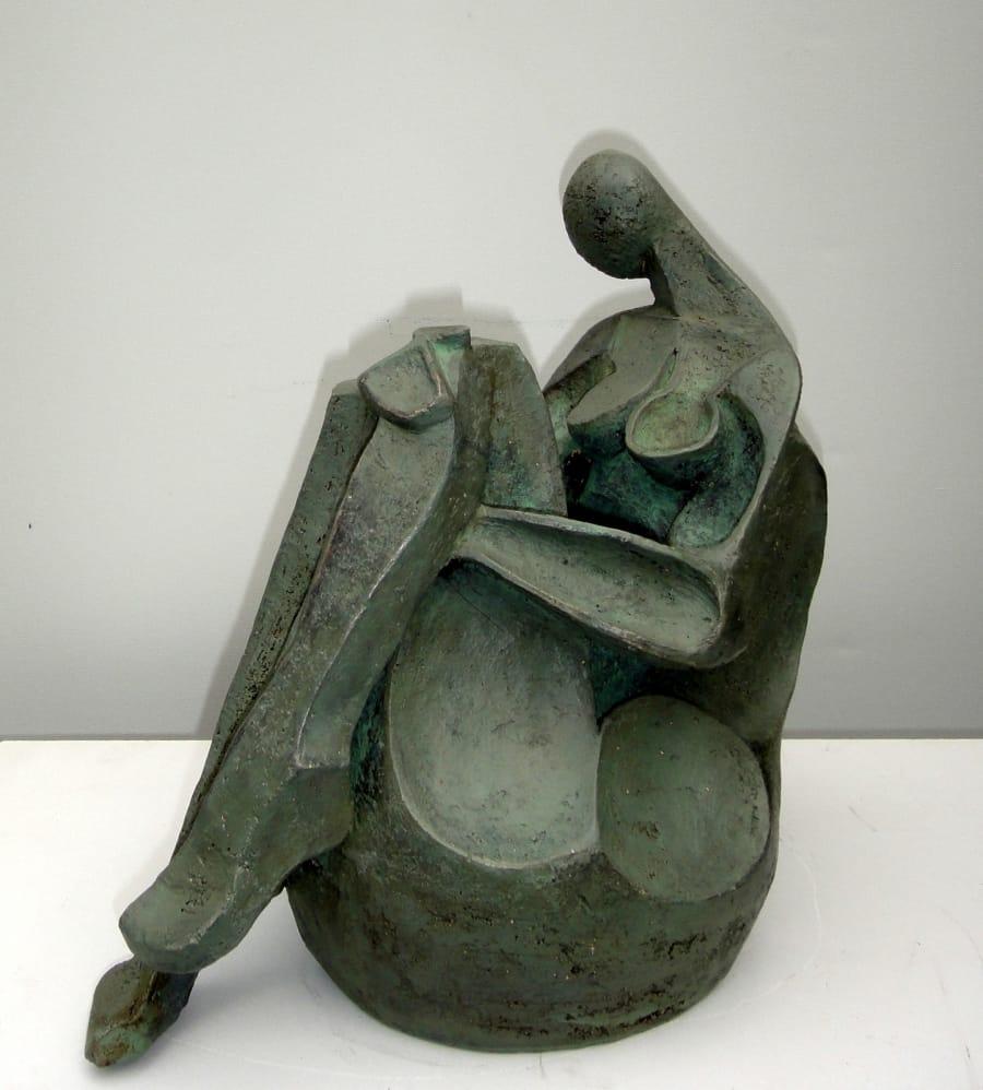 Kunst: GROENE VROUW I van kunstenaar Hetty Kok