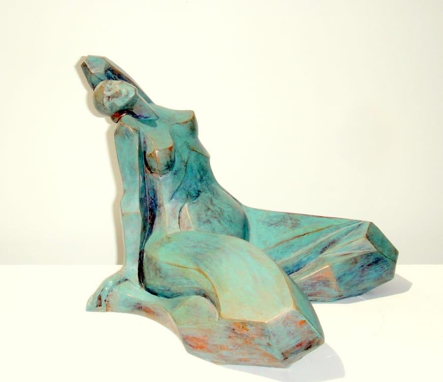 Kunst: GROENE VROUW II van kunstenaar Hetty Kok