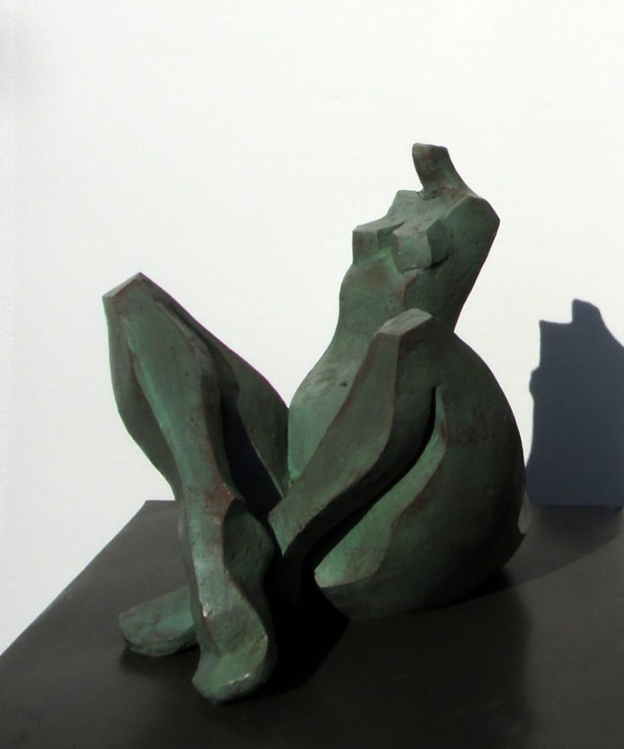 Kunst: GROENE VROUW III van kunstenaar Hetty Kok
