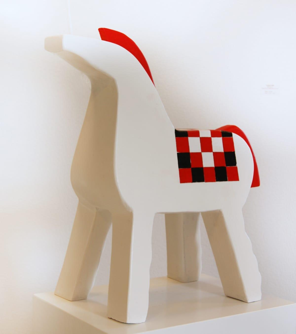 Kunst: Groot paard met dekje van kunstenaar Aad de Wit