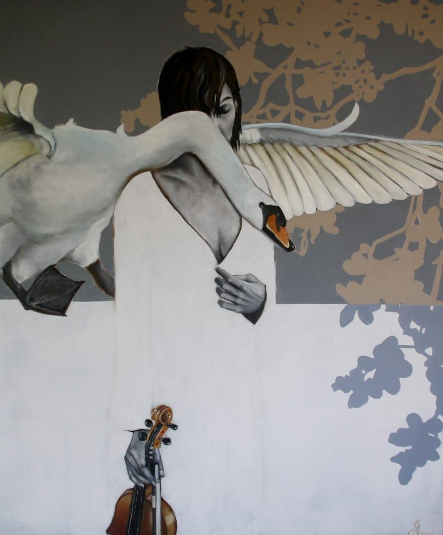 Kunst: Guardian Angel van kunstenaar Angelique-Mathijssen-van-den Bosch