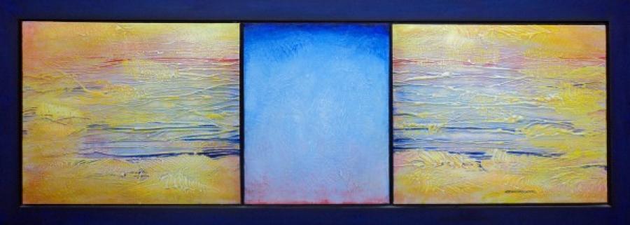 Kunst: Halfmoon Cay van kunstenaar Adriaan van de Koppel
