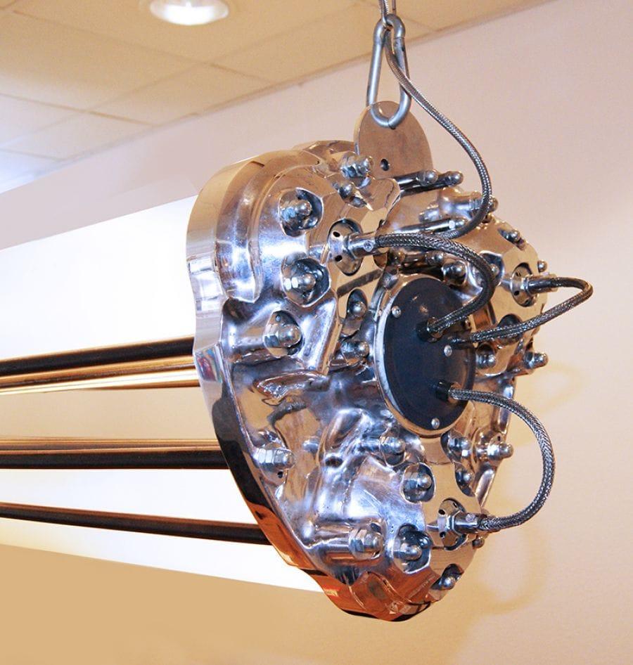 Kunst: Hanglamp (detail) van kunstenaar Stef van der Bijl