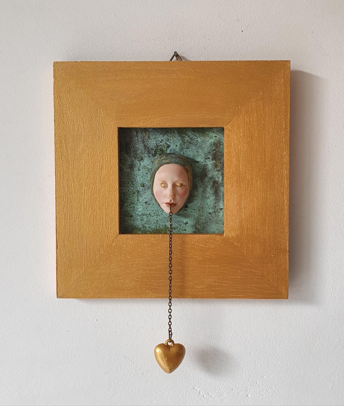 Kunst: hart van goud van kunstenaar Saskia Hoeboer