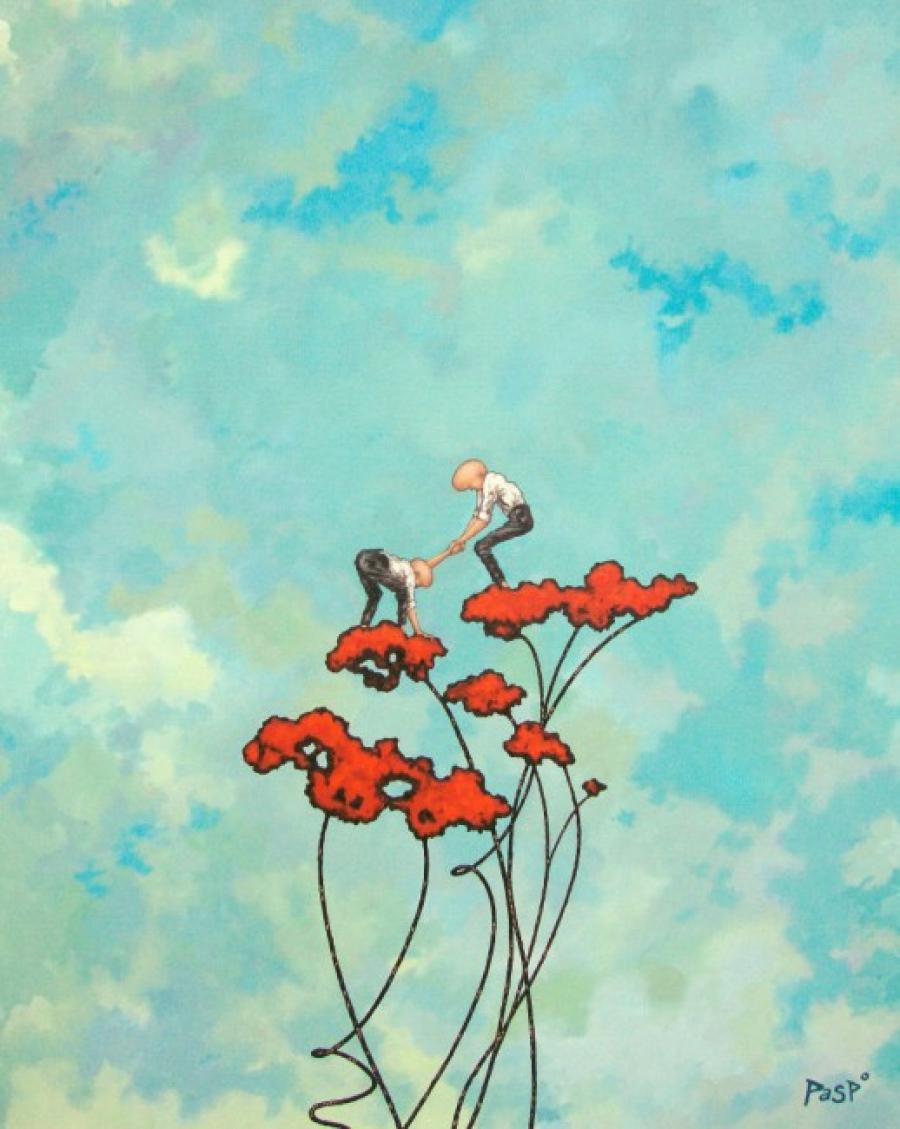 Kunst: Helping hands van kunstenaar Paddy Spoelder