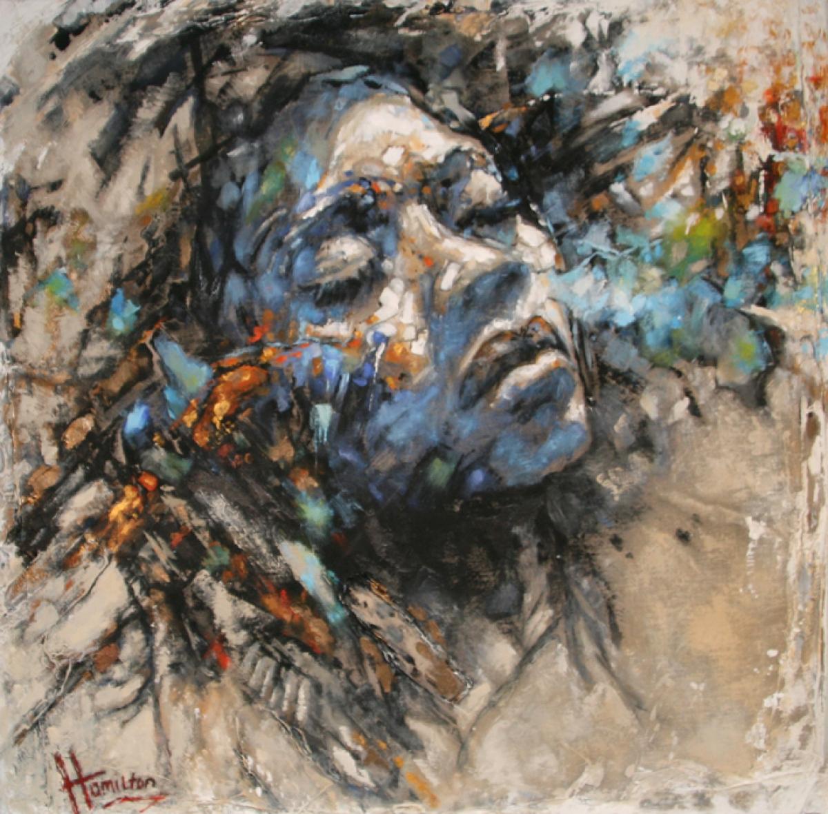 Kunst: Here comes the sun van kunstenaar Evelyn Hamilton