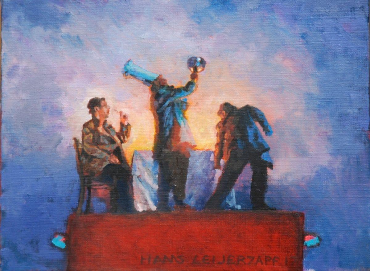 Kunst: Het hoofdgerecht II van kunstenaar Hans Leijerzapf