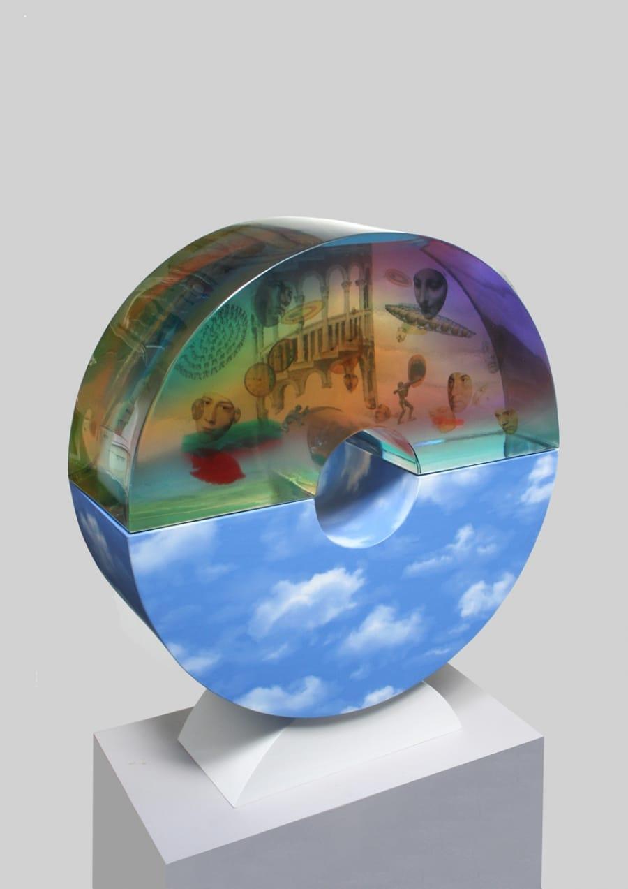 Kunst: In de wolken 2 van kunstenaar Frans Muhren