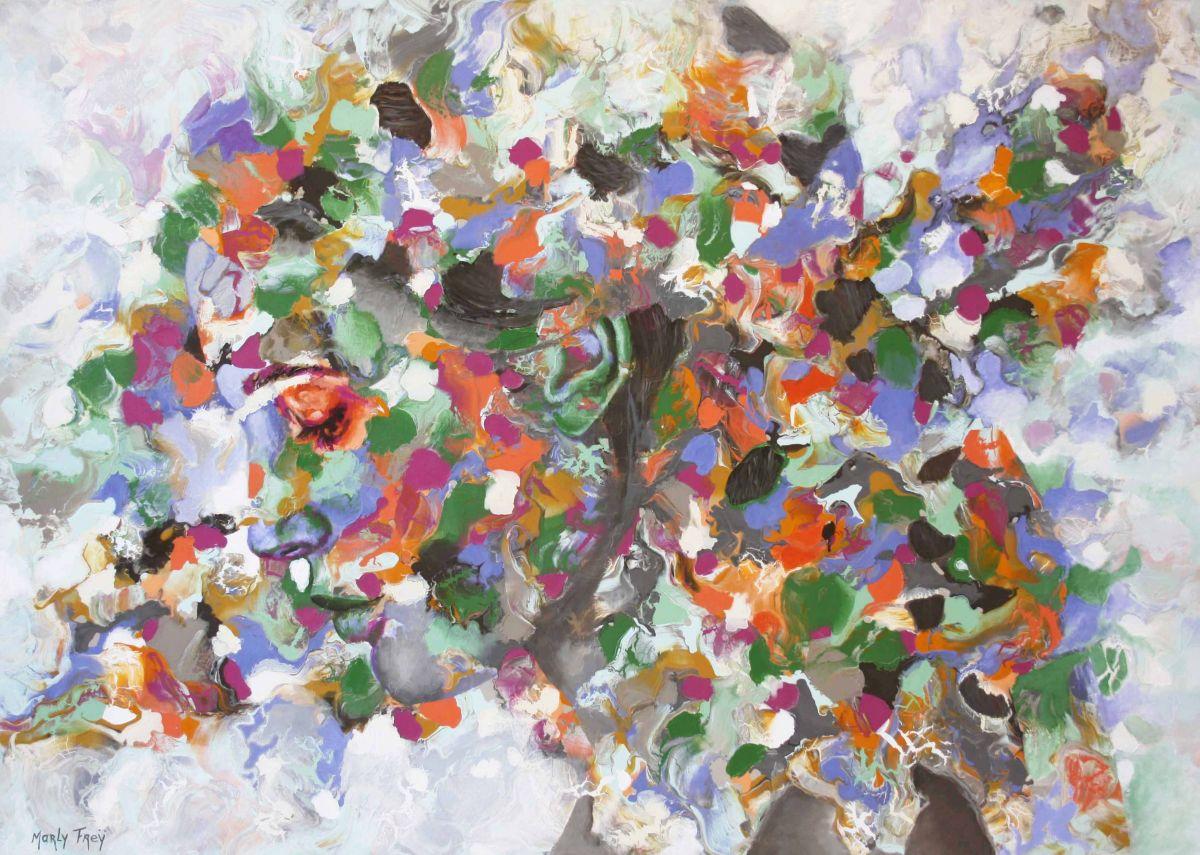 Kunst: In two minds van kunstenaar Marly Freij(portretten)