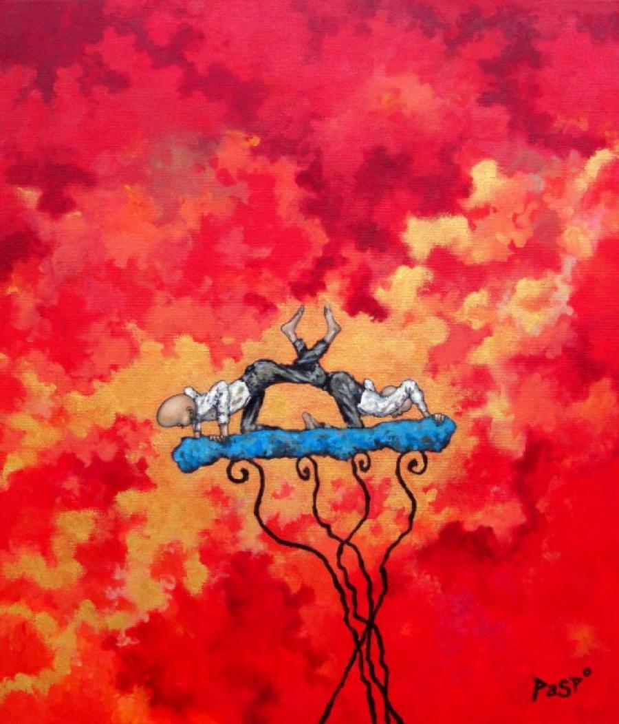 Kunst: Inhaken van kunstenaar Paddy Spoelder