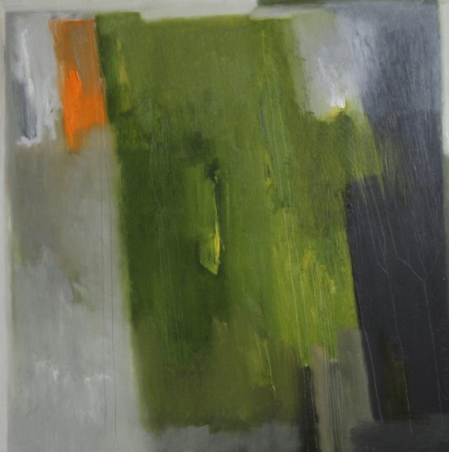 Kunst: Into the green (Groen landschap) van kunstenaar Lou Vos