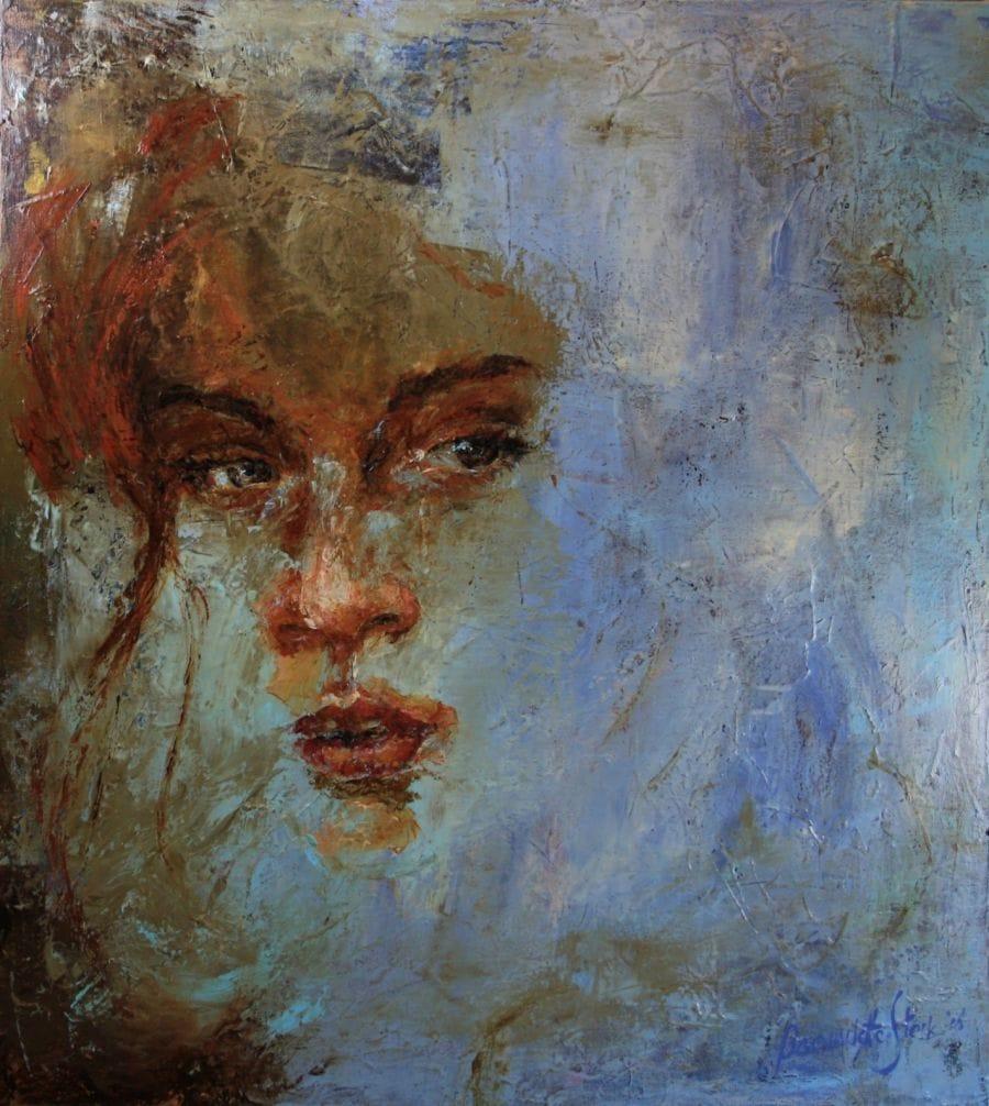 Kunst: Irish Red van kunstenaar Bernadette Sterk