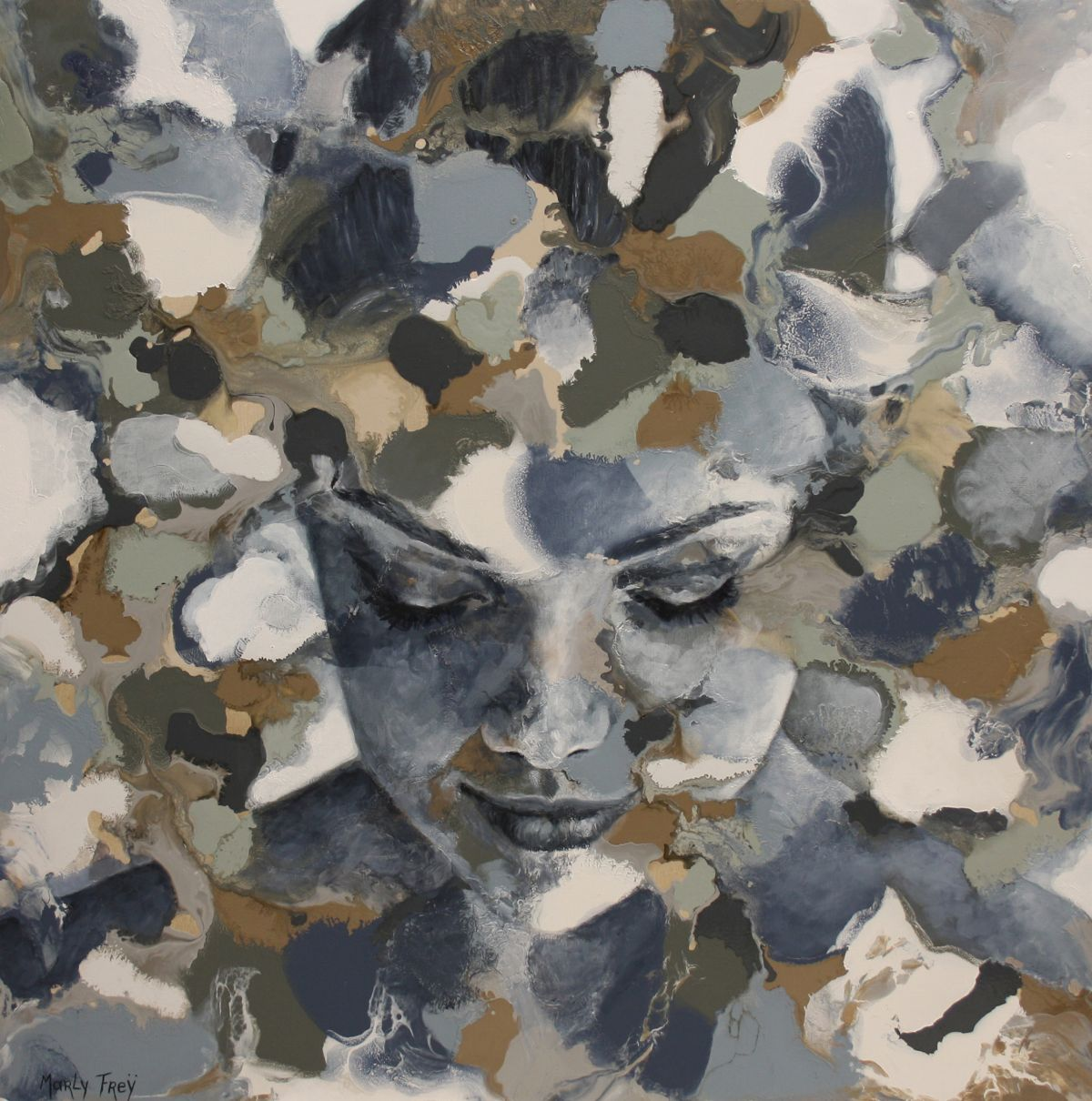 Kunst: January van kunstenaar Marly Freij(portretten)