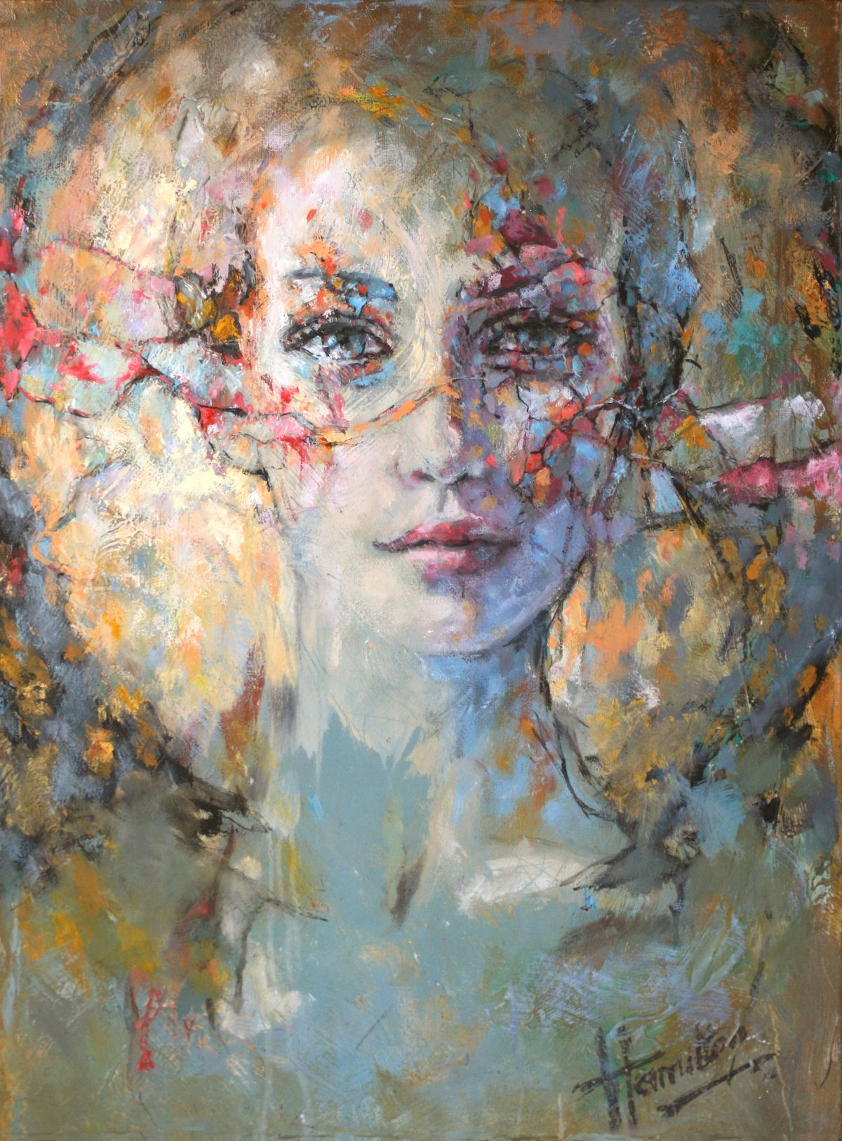 Kunst: Just Me van kunstenaar Evelyn Hamilton