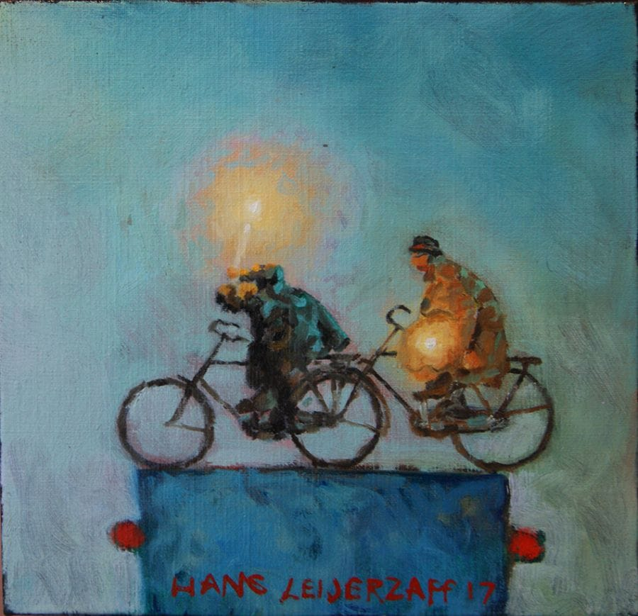 Kunst: Kaars fietsen van kunstenaar Hans Leijerzapf