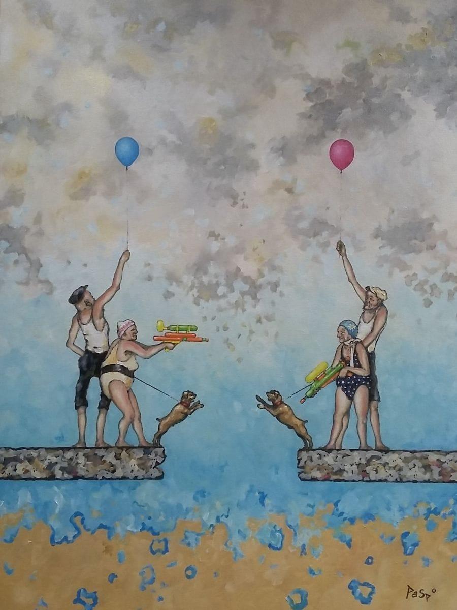 Kunst: (K)luchtig tafereel van kunstenaar Paddy Spoelder