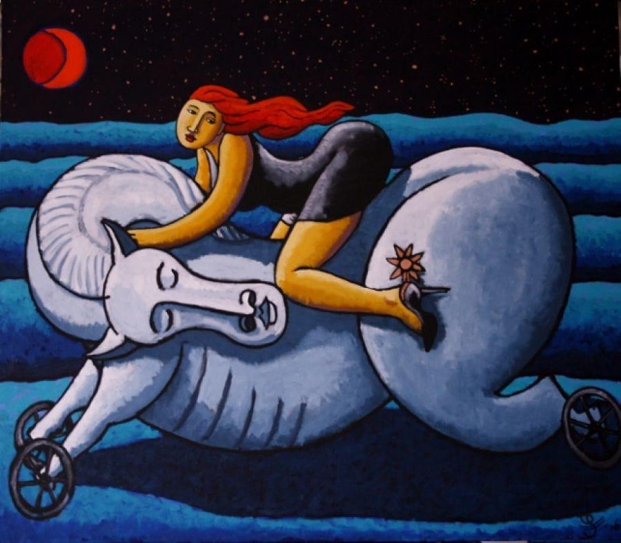 Kunst: Knightesse van kunstenaar Jacques Tange