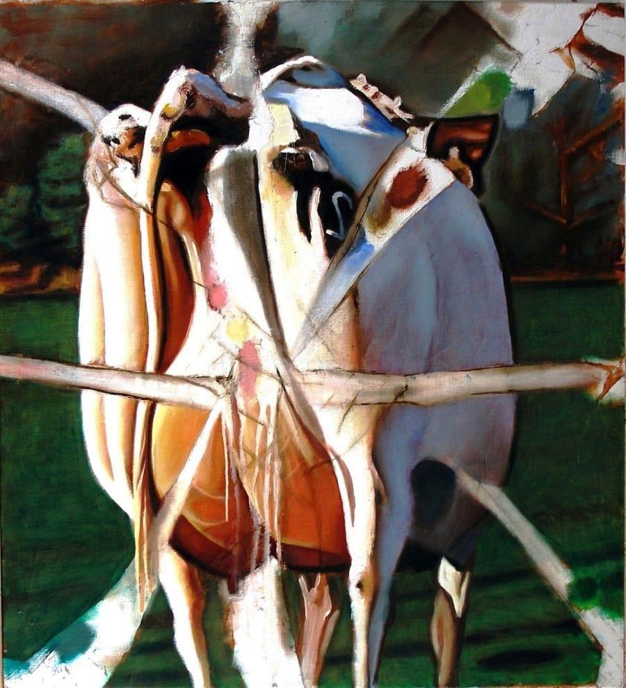Kunst: koe van kunstenaar Leo Wijnhoven