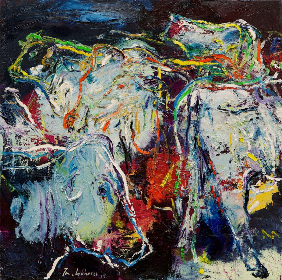 Kunst: Koeien (KO08) van kunstenaar Jan van Lokhorst