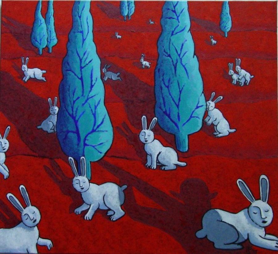 Kunst: L ombre de Dieu van kunstenaar Jacques Tange